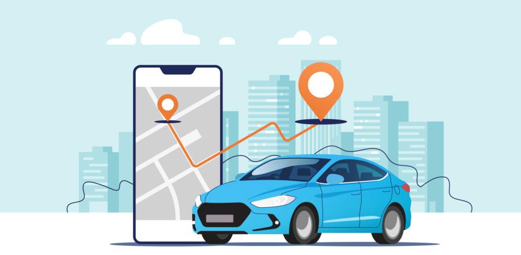 GPS Fahrzeugortung, Echtzeit, Auto, Smartphone, Routen, Anzeige wo ist Fahrzeug, Mitarbeiter zu Kunde